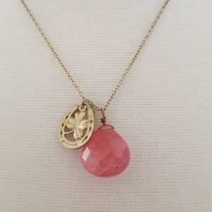 Pink stone good luck necklace
